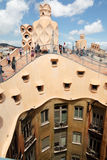 Gaudi designed apartment building La Pedrera Stock Image
