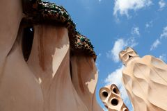 Gaudi designed apartment building La Pedrera Stock Photo