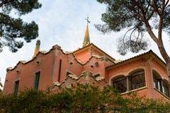 Gaudi dom w parkowym Guell, Barcelona obraz royalty free