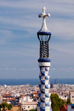 Gaudi four arms cross at Park Guell in Barcelona Royalty Free Stock Photos
