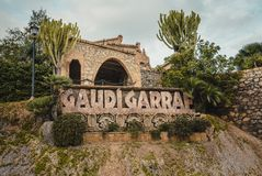 Gaudi Garraf, Spain. GARRAF, SPAIN - OCTOBER 11, 2016: Celler Güell by Antoni Gaudi. Garraf, Barcelona province in the Catalonia, Spain Stock Photos