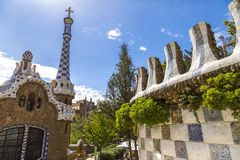 Gaudi-Häuser stockfotografie
