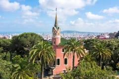 Gaudi-Haus-Museum in Guell-Park, Barcelona, Spanien stockfotografie