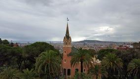 The Gaudi House Museum at Barcelona. Spain Stock Photos