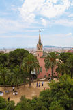 Gaudi house museum in Parc Guell Royalty Free Stock Photography