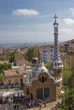 Gaudi House in Parc Guell. In Barselona Royalty Free Stock Photos