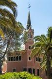Gaudi house in Park Guell. Barcelona, Spain stock photos
