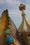 Gaudi house rooftop Stock Photography