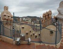 Gaudi house-top Stock Photos