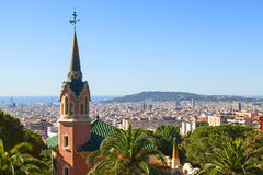 Gaudi house view. In park guell Stock Photography