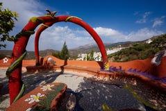Gaudi inspirou a área de assento, Competa de negligência, Espanha Fotografia de Stock Royalty Free
