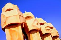 Gaudi - La Pedrera Royalty Free Stock Photo