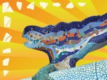 Gaudi_lizard_mosaic Stock Image