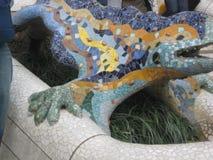 gaudi-mosaic-dragon- Royalty Free Stock Images