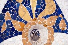 Gaudi Mosaic pattern Royalty Free Stock Images