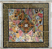 Gaudi Mosaic Tiles - Barcelona, Spain. Park Guell Stock Image
