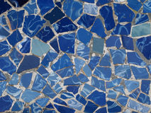 Gaudi Mosaic Tiles - Barcelona, Spain. Park Guell Stock Photos