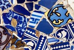 Gaudi Mosaikwand Stockfotos