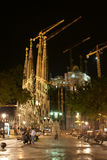Gaudi in the night. Stock Photo