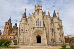 Gaudi palace in Astorga Royalty Free Stock Photo