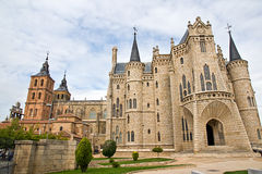Gaudi palace in Astorga Stock Photography