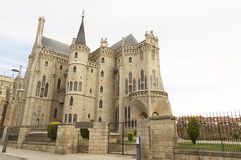 Gaudi Palace Cathedral, Astorga, Pilgrim route to Santiago de Compostela Royalty Free Stock Photo