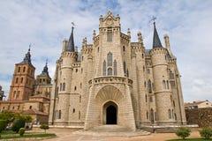 Gaudi-Palast in Astorga Lizenzfreies Stockfoto