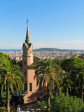 Gaudi Park in Barcelona, Spain Royalty Free Stock Images