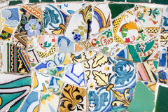 Gaudi Park_Tiles_Art Royalty Free Stock Photo