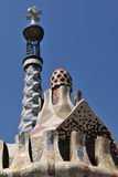 Gaudi roof - Barcelona Royalty Free Stock Images