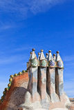 Gaudi rooftop, casa batllo Stock Images