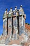 Gaudi rooftop, casa battlo royalty free stock photos