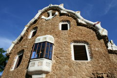 Gaudi`s architecture in Barcelona Stock Photos