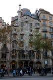 Gaudi`s building in Barcelona city, Spain Stock Photos