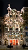 Gaudi's Casa Batllo in Barcelona at night Stock Photography