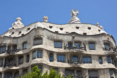 Gaudi's Casa Milá Stock Photo