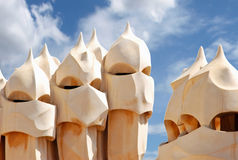 Gaudi's Casa Mila Royalty Free Stock Photos
