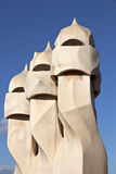 Gaudi's Casa Mila_Barcelona Royalty Free Stock Photography