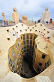 Gaudi's Casa Milla - Barcelona, Spain Royalty Free Stock Photography