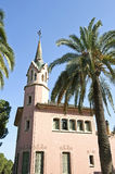 Gaudi's house. Closeup ofthe Gaudi's house in the Park Guell in Barcelona, Spain Stock Images