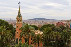 Gaudi's House - Park Guell in Barcelona,Spain Stock Image