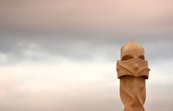 Gaudi's La Pedrera chimney Stock Photos