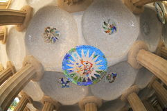Gaudi's mosaic ceiling Stock Photography