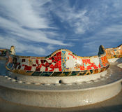Gaudi's Parc Guell in Barcelona. Spain royalty free stock photos