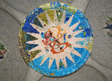 Gaudi's Parc Guell in Barcelona. Spain royalty free stock photo