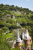 Gaudi's Parc Guell in Barcelona Stock Photos