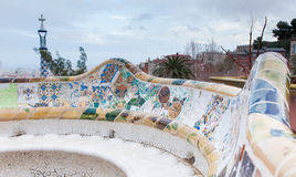 Gaudi's Park Guell in Barcelona, Spain. Royalty Free Stock Photography