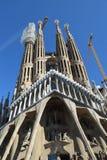 Gaudi ` s Sagrada Familia i Barcelona som nästan är klar? Arkivfoton