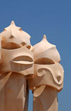 Gaudi's Sculptures Stock Photos