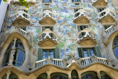 Gaudi's Tiles. Tile Detail Casa Battlo, Barcelona, Spain Stock Image